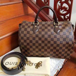 Louis Vuitton  Speedy 30 Bandouliere Damietta